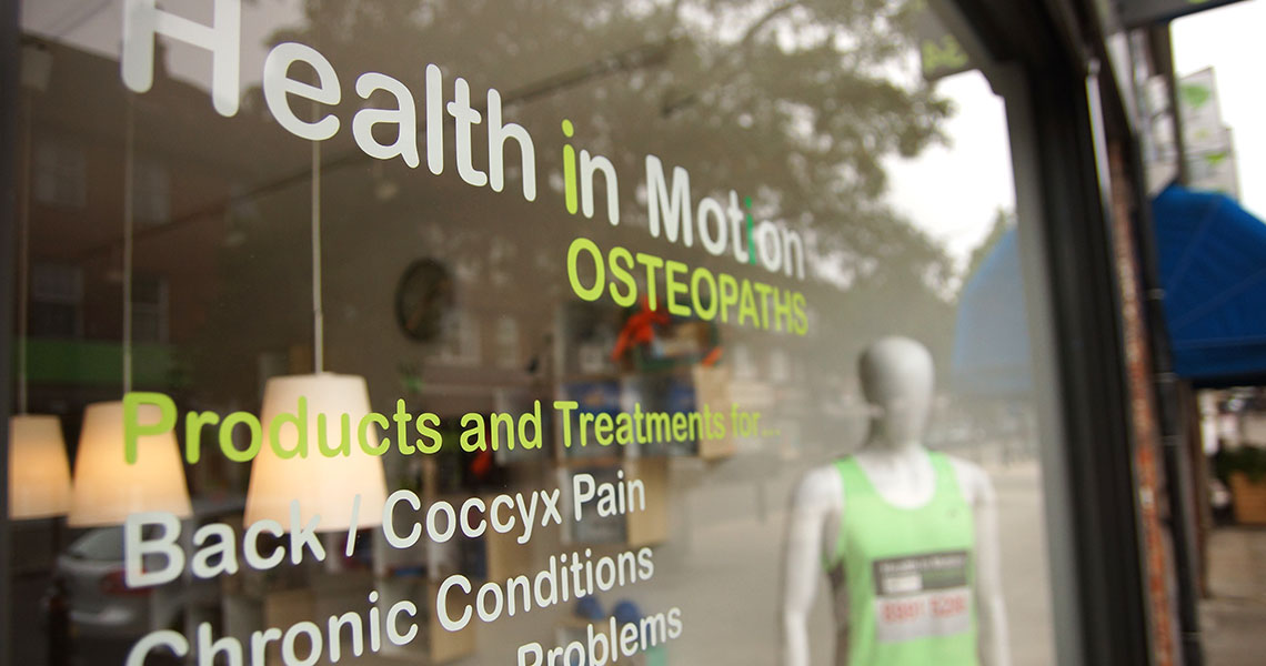 Health in Motion osteopaths Pitshanger Lane Ealing